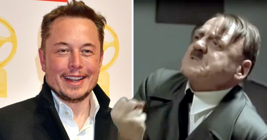 Picture: Getty, @michael march Elon Musk makes sick Hitler joke and people are furious