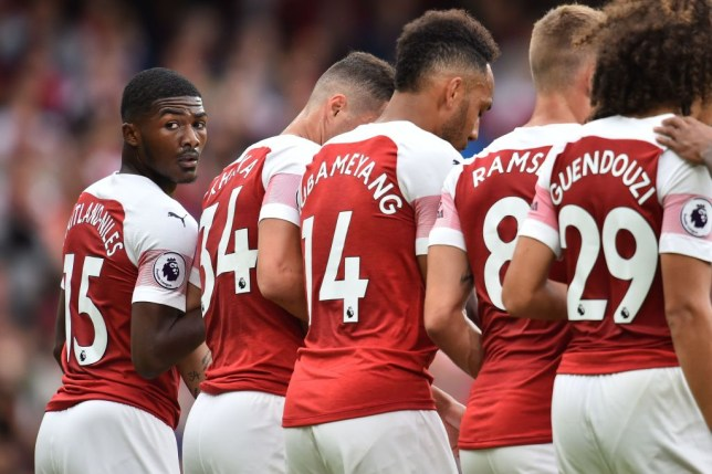 6e2b1ca2245 Arsenal youngster Ainsley Maitland-Niles stuggled before picking up an  injury against Manchester City (Picture: Getty)