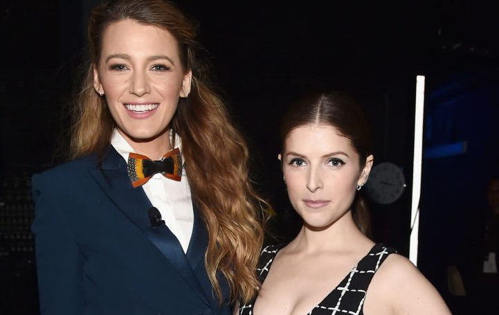 Anna Kendrick locks lips with Blake Lively and claims they're the 'freshest two people to have ever kissed'