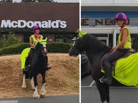 Horse rider turned away by McDonald's drive-thru despite craving a Big Mac