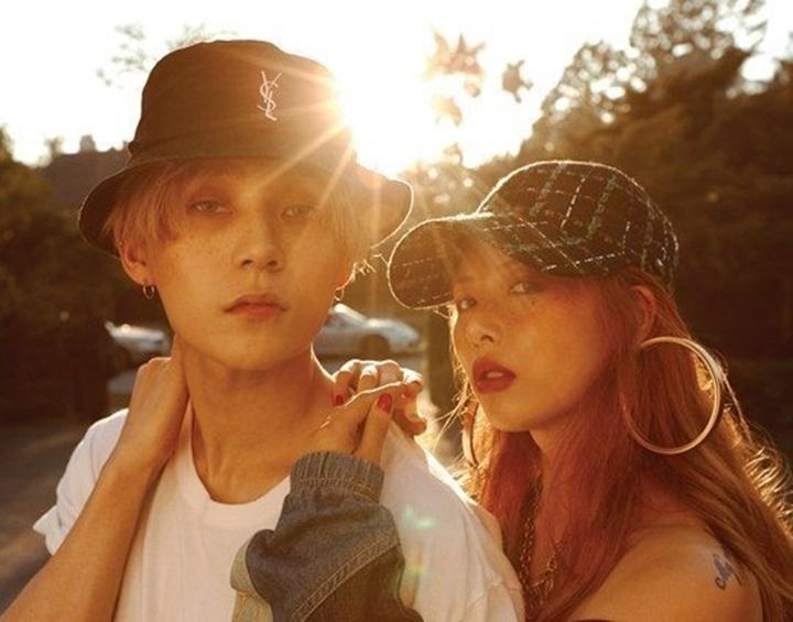 E'Dawn and HyunA (Picture: Cube Entertainment)