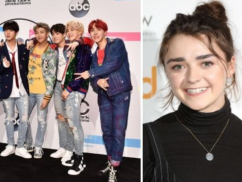 Maisie Williams fangirls at BTS London concert and makes sure her bias Jungkook feels the love