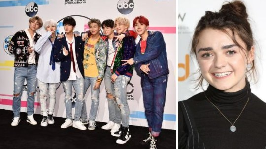 BTS and Maisie Williams