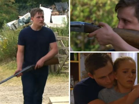 Emmerdale spoilers: Who is shot and who dies as Lachlan White goes on a gun spree?