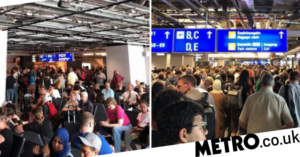 Frankfurt Airport evacuated after adult and child get