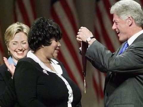 Bill and Hillary Clinton lead political tributes to Aretha Franklin