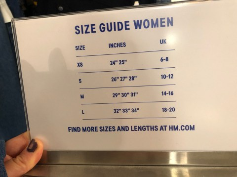 Trying On H M Jeans Is H M Sizing A Danger To People With Body