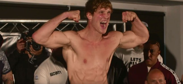 Jake Paul came out on top in the final weigh-in (Picture: YouTube)