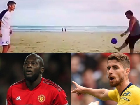 Chelsea fans claim Jorginho's mum has a better first touch than Romelu Lukaku after amazing video