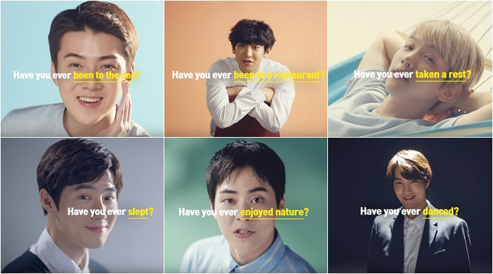 EXO members in the teaser video for the Korea tourism ad campaign (Picture: screenshot from KTO video on YouTube)