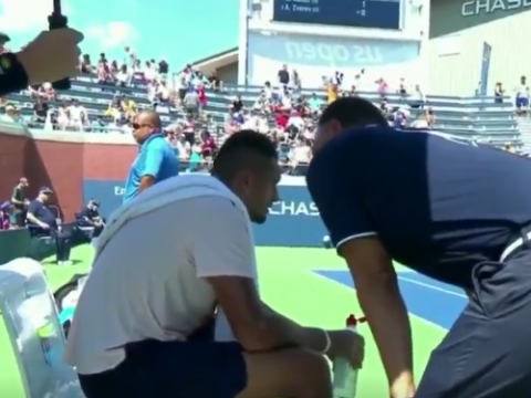 US Open umpire Mohamed Lahyani avoids punishment for Nick Kyrgios pep talk