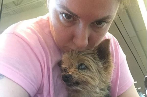 Lena Dunham issues emotional tribute to her dog Bowie as Yorkshire terrier dies aged 13