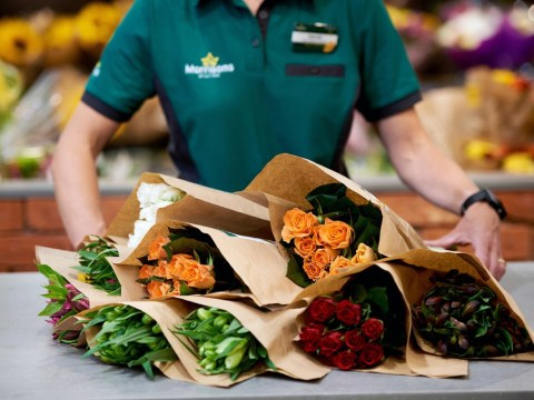 Morrisons is cutting back on plastic use by selling flower bouquets in paper