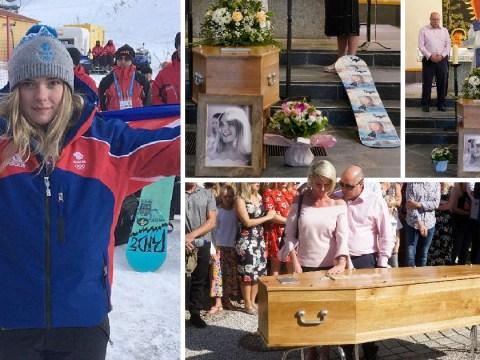 Snowboarder Ellie Soutter's dad says 'ride high' at emotion-filled funeral