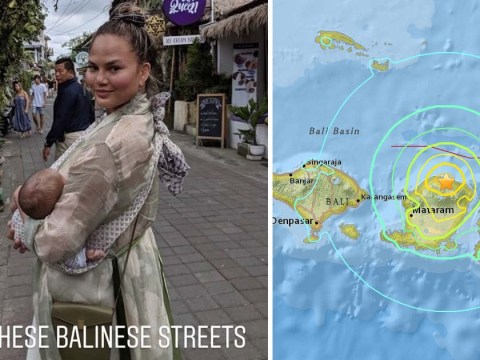 Chrissy Teigen live tweets Indonesian earthquake sending fans into a panic as Tsunami warning is issued