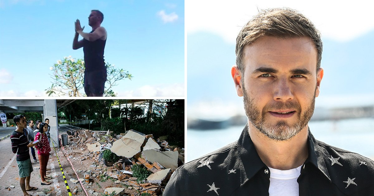 Gary Barlow left 'shaken' after being caught up in powerful Indonesian earthquake