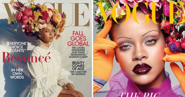 Beyonce and Rihanna fronted Vogue of both sides of the Atlantic for its September issues