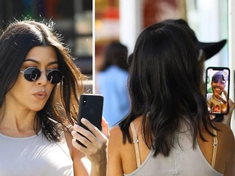 Kourtney Kardashian moves on from Younes Bendjima 'split' as she's caught FaceTiming another guy