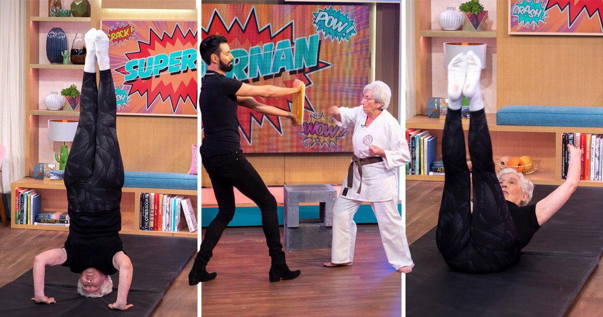 Rylan Clark-Neal can't handle 75-year-old 'ninja nan' and 84-year-old gymnast who does handstand live on air