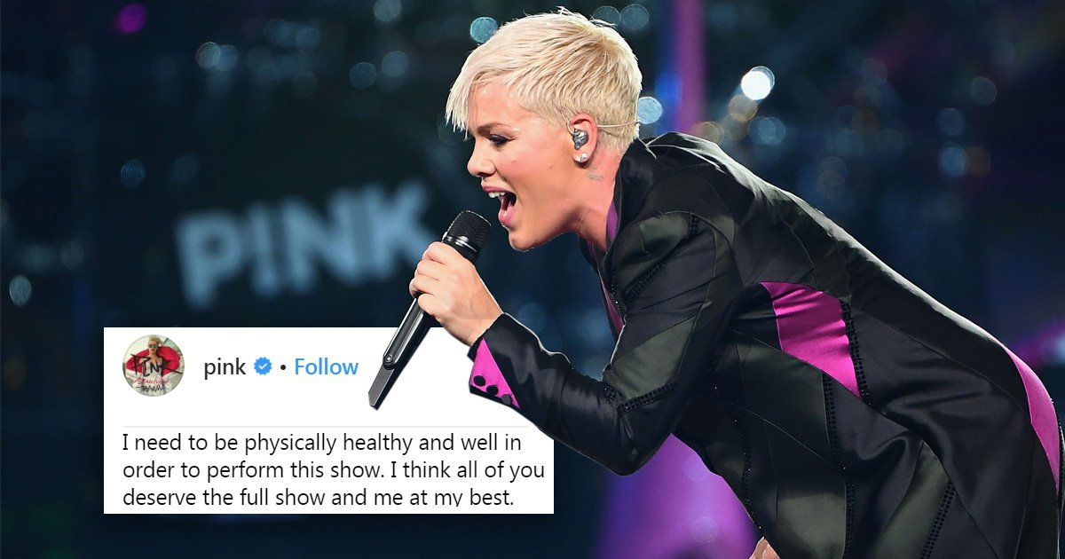 Pink says fans 'deserve her at her best' as she preps for stage return amid cancellation backlash