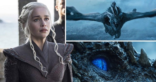 Viserion and Daenerys in Game of Thrones