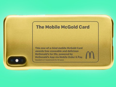 McDonald's is giving out a gold card that entitles you to two free meals a week for the rest of your life