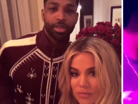 Khloe Kardashian and Tristan Thompson share PDA after he's spotted 'looking more than friendly' with a 'mystery woman'
