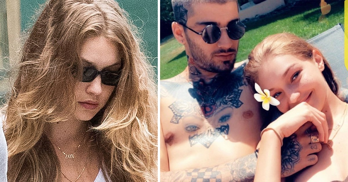 Gigi Hadid wears a 'Zayn' namesake necklace in New York after romantic vacay made for two