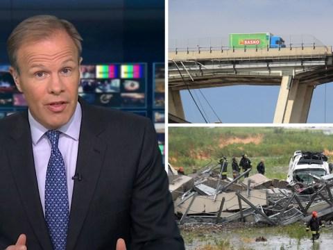 Backlash against ITV News for report on Genoa bridge collapse that killed dozens