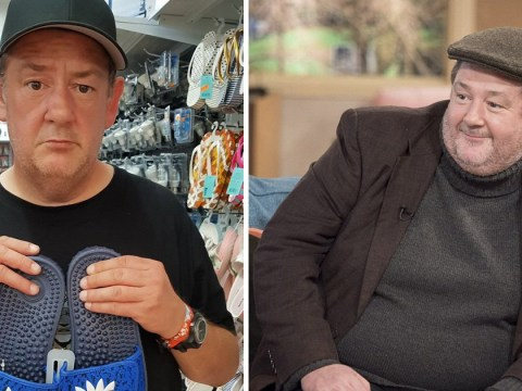 Johnny Vegas shops for new wardrobe as he shows off inspiring weight loss