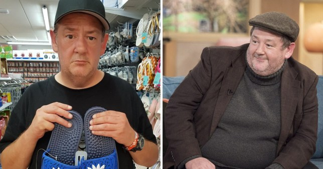 Johnny Vegas continues to show off weight loss as he embarrasses his son