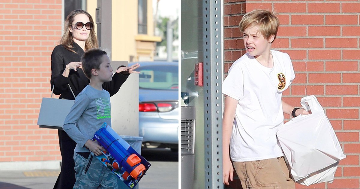Angelina Jolie treats Shiloh and Knox to new toys amid claims it's 'likely' ex Brad Pitt will win joint custody