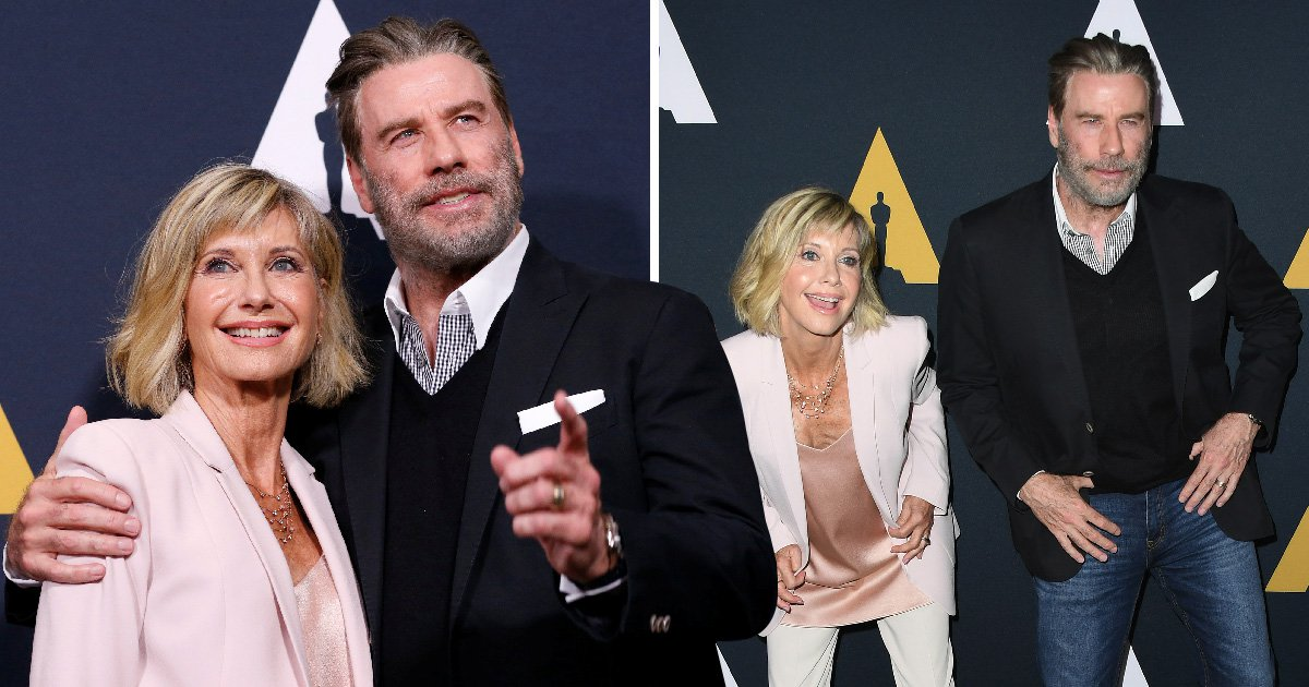 Olivia Newton John and John Travolta prove they still have the moves as they reunite for Grease's 40th anniversary