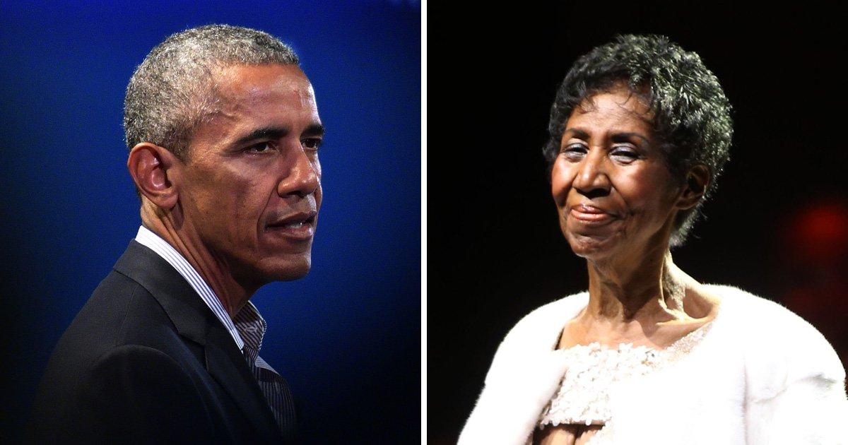 Barack Obama says Aretha Franklin 'helped us feel more human'