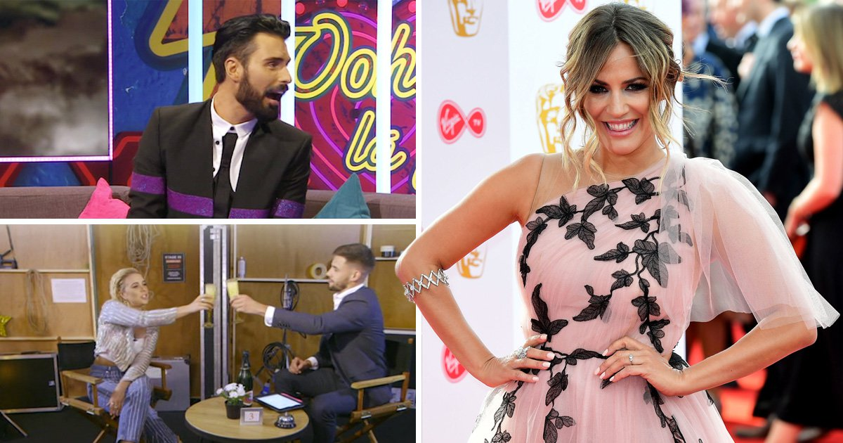 Rylan Clark throws some crafty shade at Andrew Brady's relationship with Caroline Flack as he goes speed dating