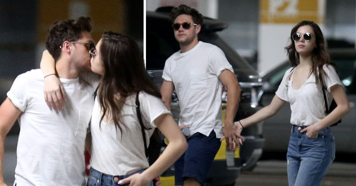 Niall Horan and Hailee Steinfeld pictured kissing as they finally confirm relationship