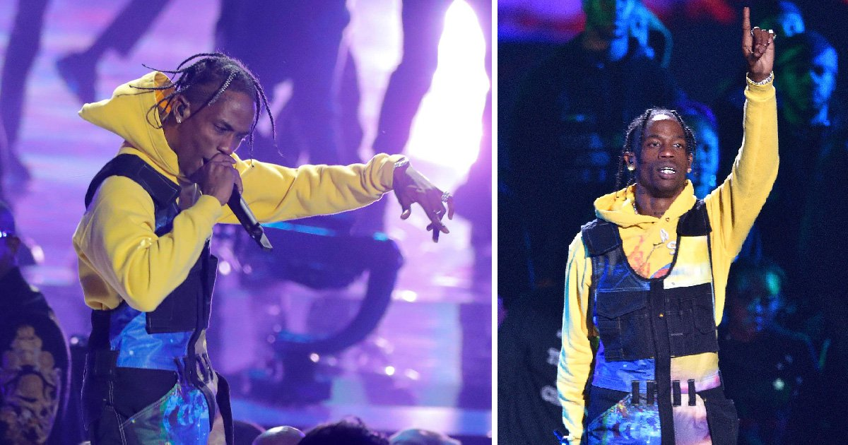 Travis Scott throws shade at Nicki Minaj and pays tribute to Aretha Franklin during MTV VMAs 2018