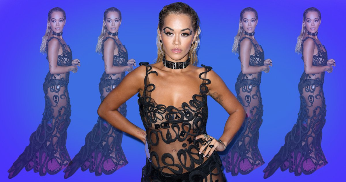 Rita Ora provides a new terrifying trend for us to try as she sports completely see-through dress at VMAs