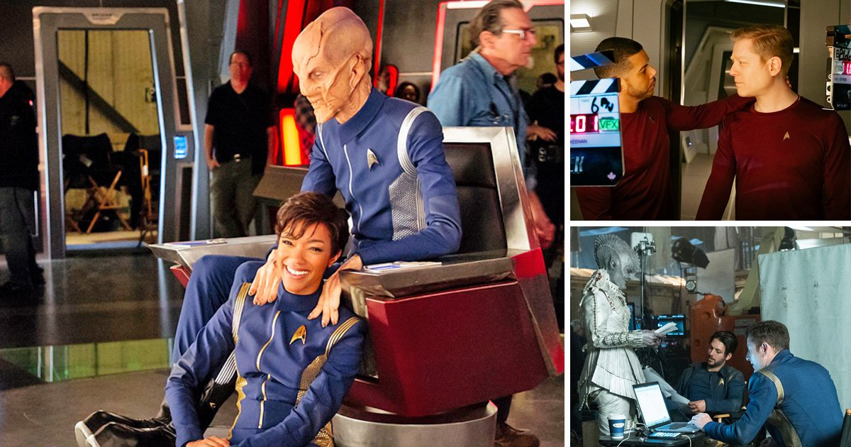 Star Trek: Discovery releases behind the scenes shots of Sonequa Martin-Green, Doug Jones and other key cast members