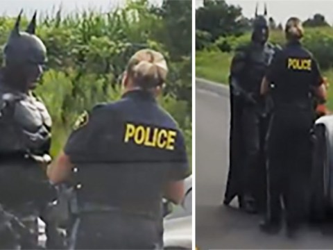 Batman pulled over by police 'so officer can take photo of Batmobile'
