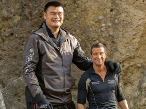 Bear Grylls meets his biggest challenge yet as gargantuan guest Yao Ming, 7ft6in, makes the tough guy, 6ft, look tiny on Running Wild
