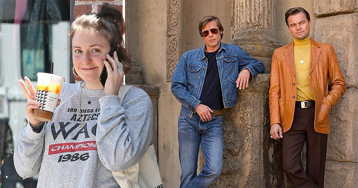 Lena Dunham joins Brad Pitt and Leonardo DiCaprio in Once Upon a Time In Hollywood