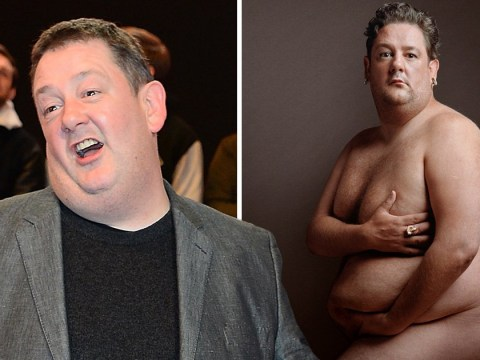 Johnny Vegas is quite the model as he strips off for nude shoot