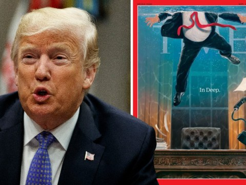 Donald Trump drowns in Oval Office for Time magazine's latest cover