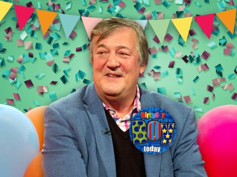 Stephen Fry admits he's 'happy to still be here' as he celebrates 61st birthday after cancer battle