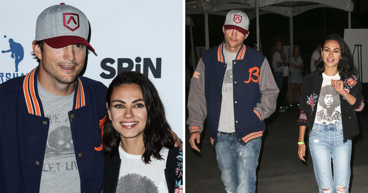 Mila Kunis and Ashton Kutcher show off competitive streaks at Ping Pong charity event
