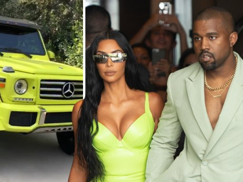 Kanye West treats Kim Kardashian to flash car as she jokes about his ill-fitting wedding slippers