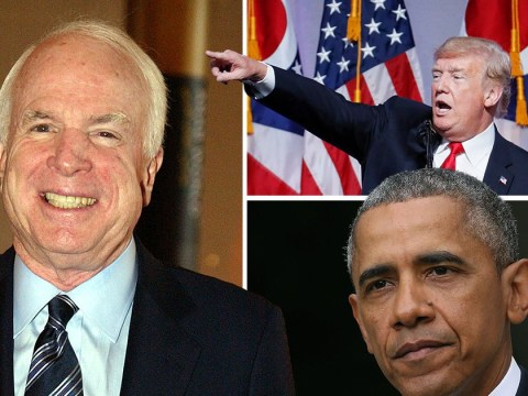 Donald Trump and Barack Obama lead tributes to John McCain