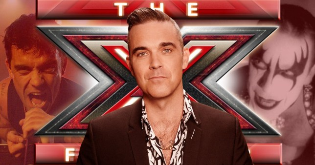 Robbie's fans may be shocked to hear that he's enjoying his new gig on the X Factor judging panel over performing his biggest hits (Picture: ITV, Rex/Shutterstock)