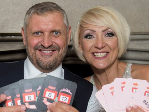 Winning couple who met on Deal Or No Deal get married with the blessing of Noel Edmonds